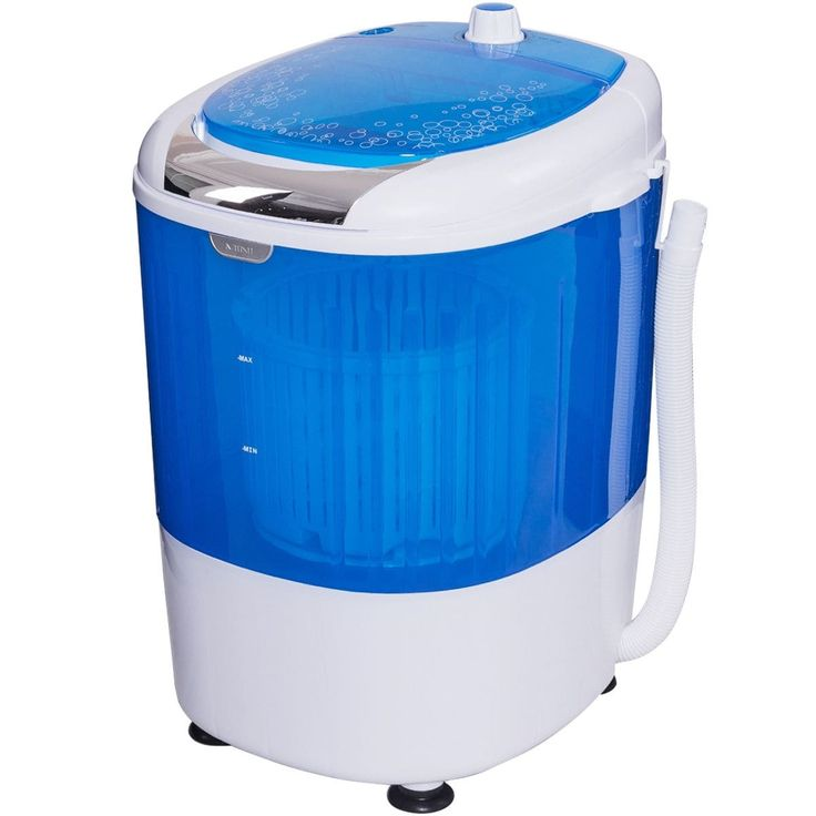 Costway 5.5lbs Portable Mini Compact Washing Machine Electric Laundry Spin Washer Dryer, Blue