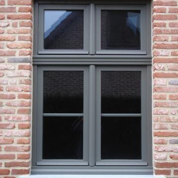 Nieuwbouw in PVC kwartsgrijs (RAL 7039) | has. ramen en deuren
