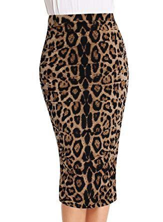 072d4107bb VfEmage Womens Elegant Ruched Frill Ruffle High Waist Pencil Mid-Calf Skirt  2620 Leo 14