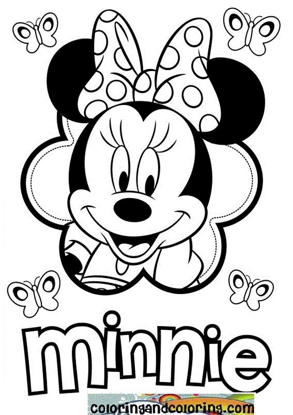 Minnie Mouse Coloring Pages | ... Mickey Mouse And Minnie Christmas Carol Coloring Pages HD Wallpaper