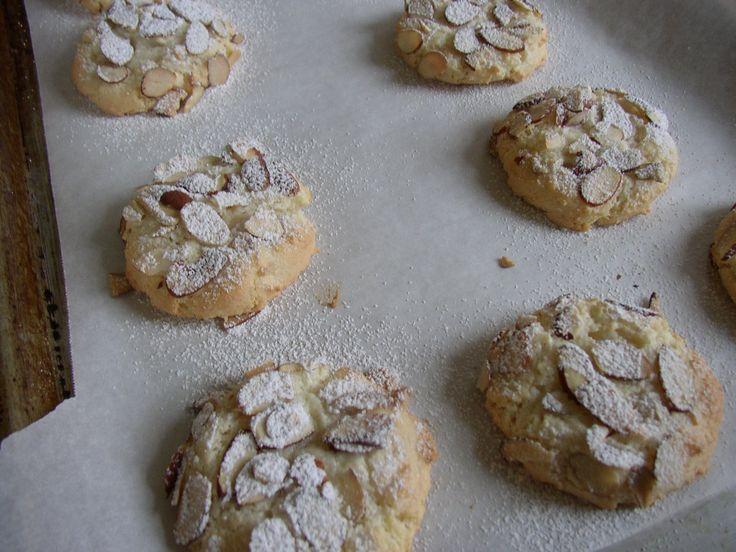 Greek Almond cookies- my absolute favorite thing about Greek fests!!!