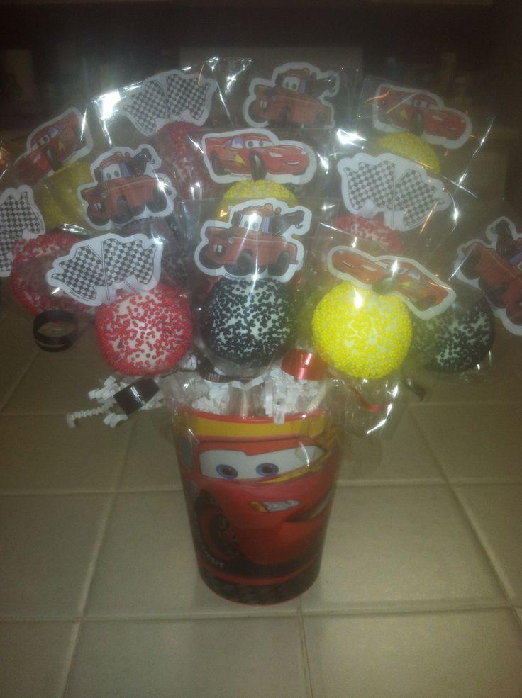Cars Cake pops ;) Cute Sweet treats by: Veronica tirado on Fb