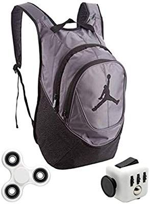 85c74fb7ea Amazon.com: Nike Air Jordan Jumpman 23 Book Bag Backpack Gray Elephant  Print with FREE FIDGET CUBE AND SPINNER: The Shunky Store