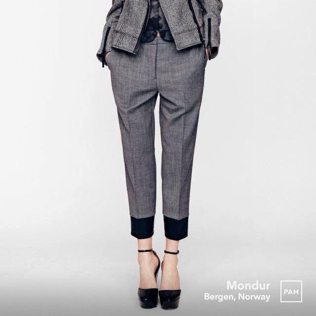 AW13 news by Baum und Pferdgarten @ Mondur. #baumundpferdgarten #neddy #croppedtrouser #polyester and #wool #scandinaviandesign #fashiondesigners #rikkebaumgarten #hellehestehave based in #copenhagen #dualistic #feminine meets #masculine and #minimal contra #grandiose #femalemodel #womensfashion #womenswear #hybridshopping #bergen #norway