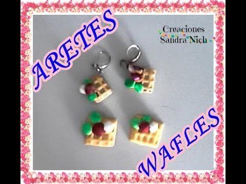 ARETES WAFLES - ARTS WAFFLES (PORCELANA FRÍA )