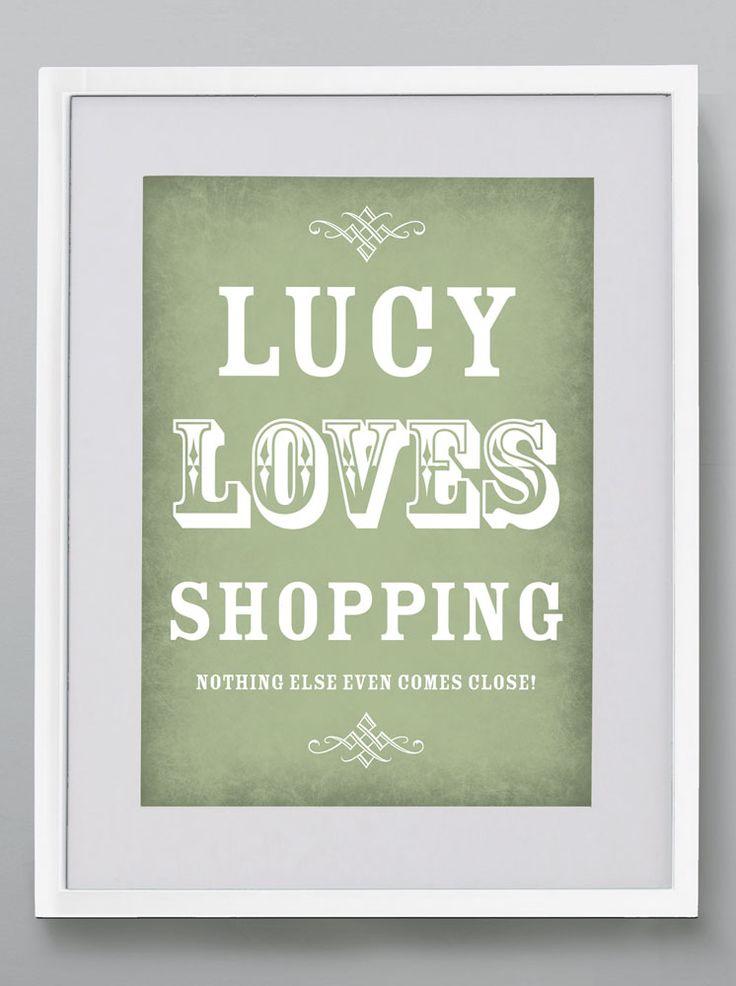 Vintage Love - Personalised print from MAYKI