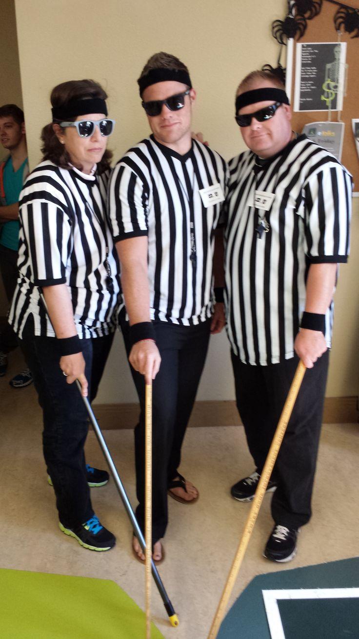 Three Blind Referees, from the BYU Utah game: Rhoda Gaufin, Cameron Garlick, and Cory Morgan.
