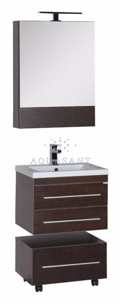 Подвесная мебель для ванной «Albert&Bayer» 58 венге – купить по низкой цене в интернет-магазине Аквасант-Ру