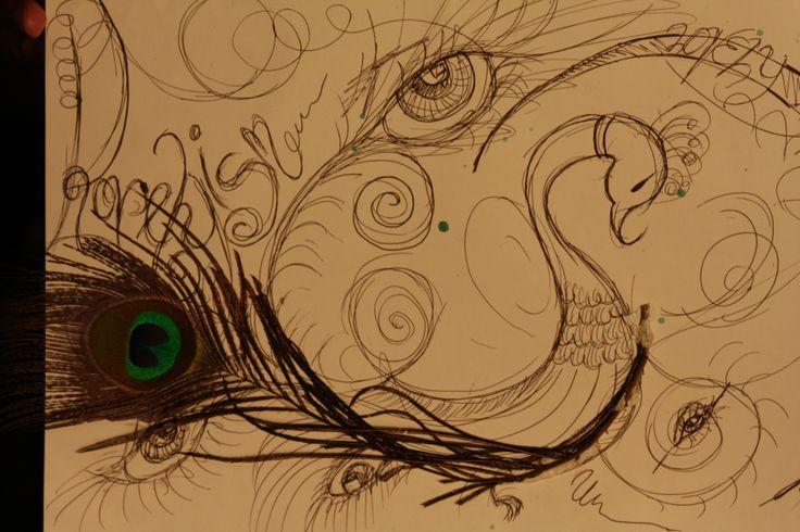 peacock, eyes