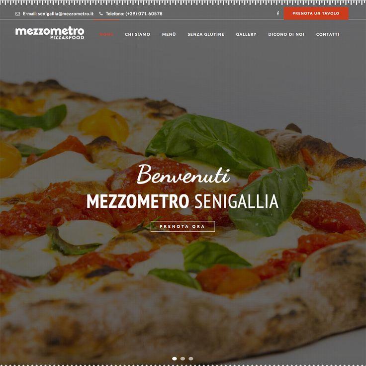"""Restyling del sito web della pizzeria """"Mezzometro"""" di Senigallia http://senigallia.mezzometro.it/"""