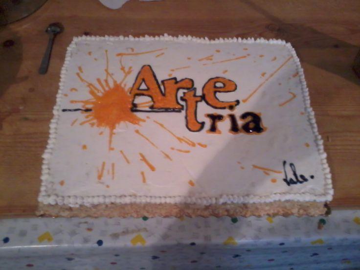 prima torta per l'associazione #Arteria