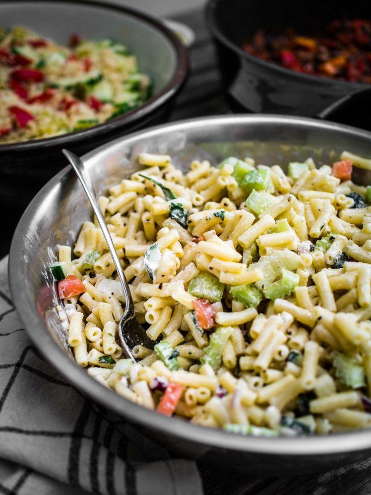 Creamy Pasta Salad   Discover Delicious   Vegan Food Blog