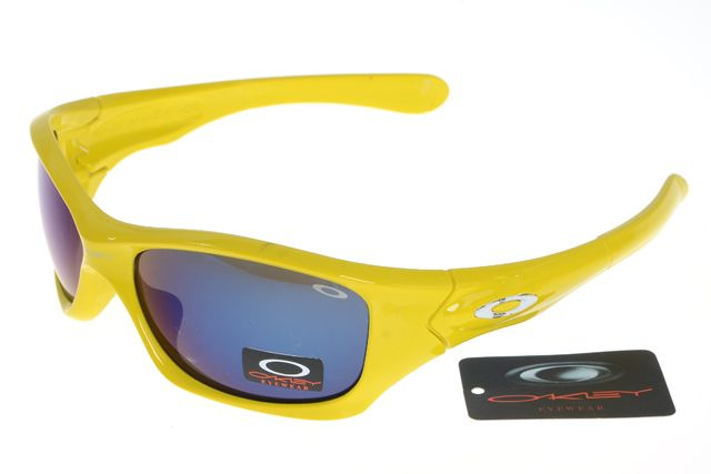 Oakley Crankcase Sunglasses Yellow Frame Colorful Lens 0170