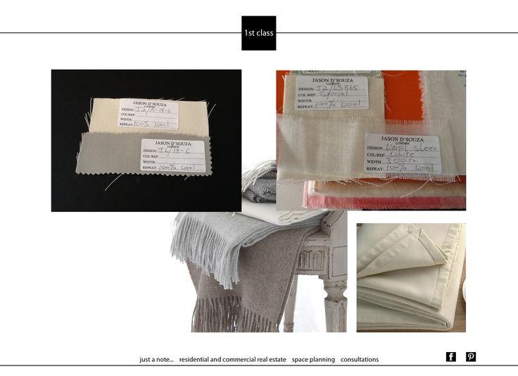 Текстиль важен в интерьерах и мы уделяем ему большое внимание. В одном из проектов, несмотря на выбор достойных поставщиков, не могли подобрать нужный оттенок и фактуру шерсти. Но наш друг из Англии помог нам в этом. Произвёл образцы специально для проекта.#1stclass #interiordesing #decoration