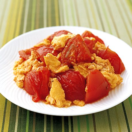 いり卵とトマトの中華ドレッシング炒め