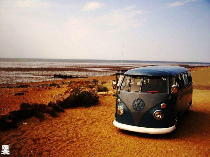 on the beach again vintage vw buses exotic mobile. Black Bedroom Furniture Sets. Home Design Ideas