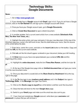 A technology lesson that introduces how to create a Google account with Gmail, Google Documents, and Google Presentations that students can use for...