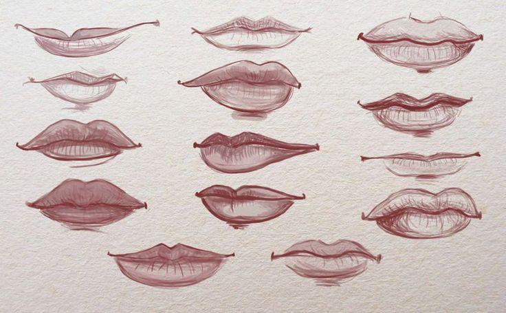 Lippen zeichnen für Anfänger - Zeichnen lernen-dekoking-com-1