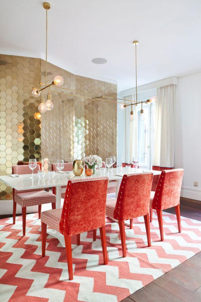 22 best muebles de salon comedor en madera de nogal images for Comedor hexagonal