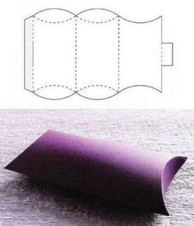 molde de caixa de presente fácil
