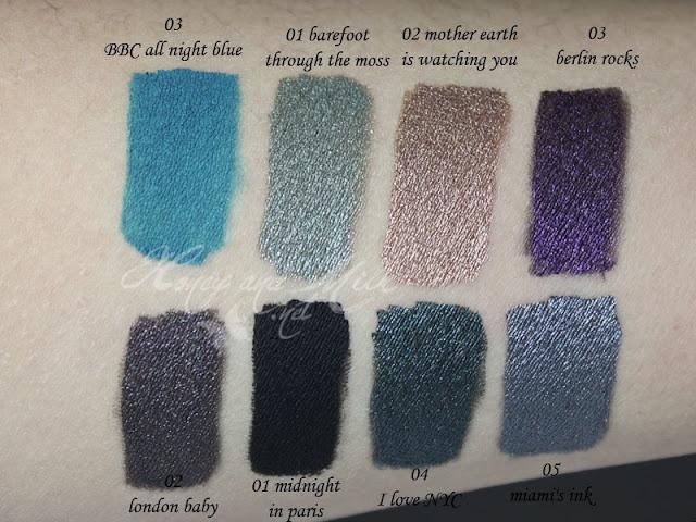 Essence gel eyeliner swatches