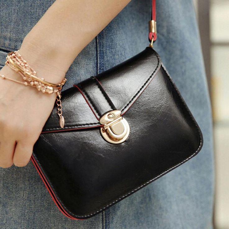 Crossbody Bags For Women PU Leather Handbag Vintage Single Shoulder Simple Fashion Messenger Bag Bolsas De Marca #9406