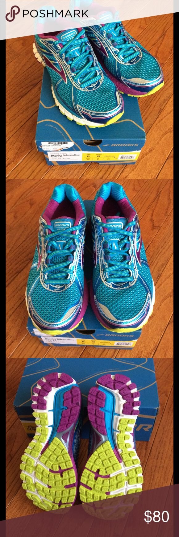 🆕 BROOKS adrenaline shoes- women's size US 8 These are brand new Brooks adrenaline 15 shoes  women's size US 8 EU 39 Retails $120  ***PRICE IS FIRM***  My sister purchased these for cross country this season, but haven't worn them. Last one!   NO OFFERS or NEGOTIATIONS please!  Thank you for understanding  :)   I also have a NEW Brooks Ravenna size 8 if interested- please see my other listings :) Brooks Shoes Athletic Shoes