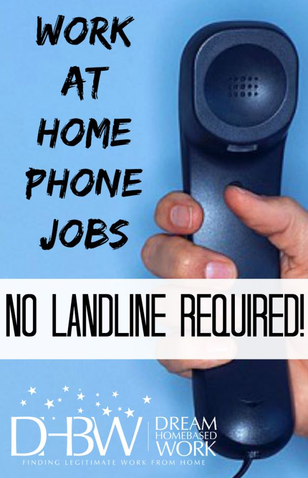 Work at Home Phone Jobs - No Landline Required