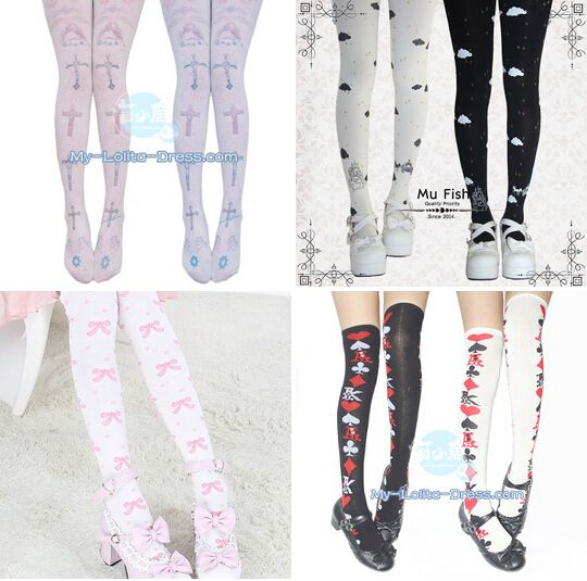 ***Newly Added Lolita Tights and Socks From Mu Fish ***Brand: Mu Fish. High quality guranteed ***Learn more: http://www.my-lolita-dress.com/newly-added-lolita-items-this-week/newly-added-lolita-tights-and-socks