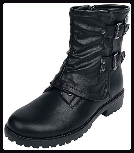 Rock Rebel by EMP Fold Over Boot Boots schwarz EU39 - Stiefel für frauen (*Partner-Link)