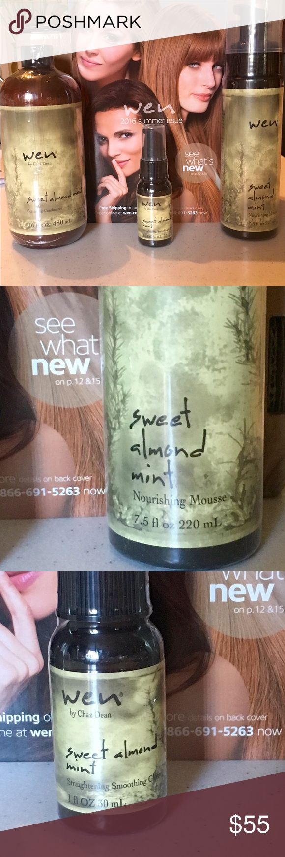 Wen Hair system Brand new Wen Cleansing conditioner , mousse , and smoothing gel Makeup
