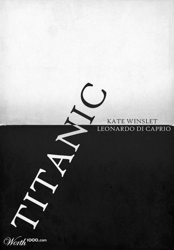 Titanic (1997) by Minimal Movie Poster by Patedoz #90smovies  #minimalmovieposters #alternativemovieposters