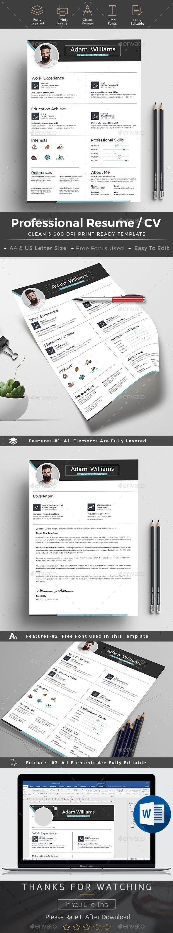 Free 1 Page Resume Template%0A Resume cv word