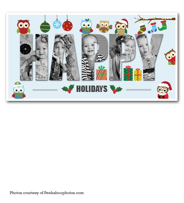 Owl Holiday Collage Als Pinterest Template And Templates