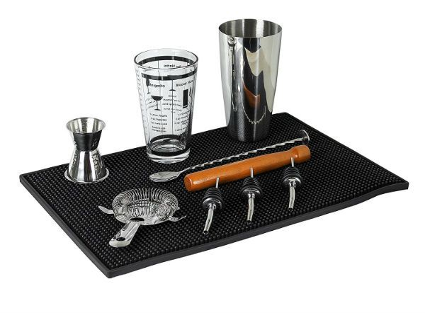 Our friend is a barman who works in a cocktail bar and he is pro cocktail maker. When we ask him to make us a cocktail at home he always says: I don't have equipment for making a good cocktail. So we decided to buy him this kit is it good? #cocktails #drinks #HappyHour #food #sun #lunch #bar #London