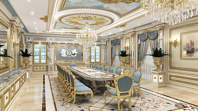 Dining Room Interior Design In Dubai By Luxury Antonovich Design