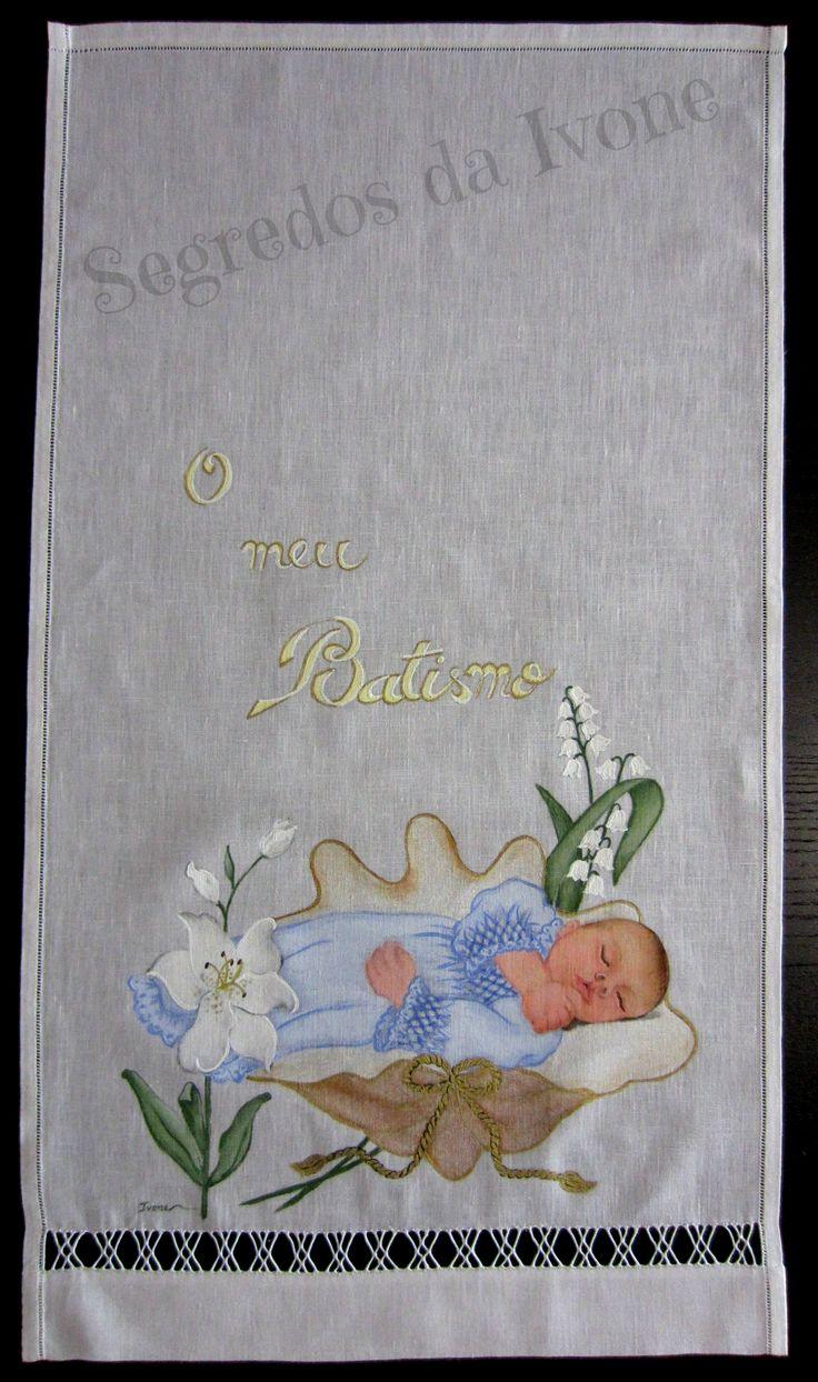 AB7- Pintura em toalha de batismo