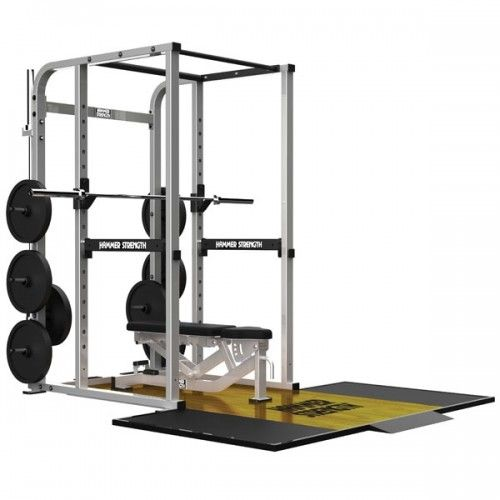 Hammer Strength Power Rack, Multi-Adjustable Bench and Platform - Savage Strength