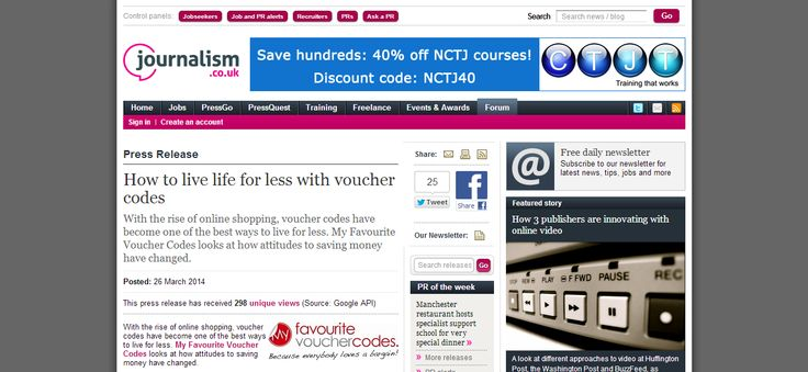 How to live life for less with free to use money saving voucher codes. Get a better deal on your online shopping with voucher codes >> voucher codes --> http://www.journalism.co.uk/press-releases/how-to-live-life-for-less-with-voucher-codes/s66/a556233/