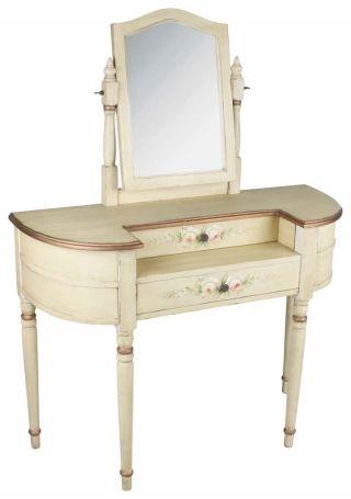 """Masă de toaletă """"Shabby Roses"""" - mult râvnită masă de toaletă cu aer romantc englezesc, prevăzută cu oglindă pentru limpezirea gândurilor. http://www.retroboutique.ro/mobila/mese/masa-de-toaleta-shabby-roses-1024"""