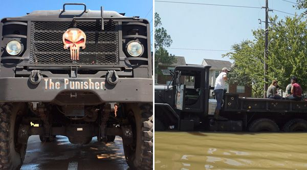 Brothers Buy 5-Ton Truck Named 'The Punisher' On Craigslist To Rescue Harvey Victims