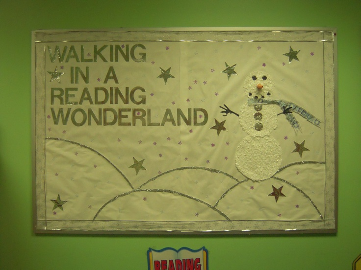 Christmas Ideas For School Libraries : Winter bulletin board for the library boards