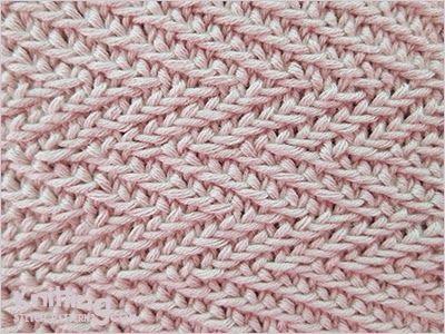 Woven Transverse Herringbone Stitch Pattern