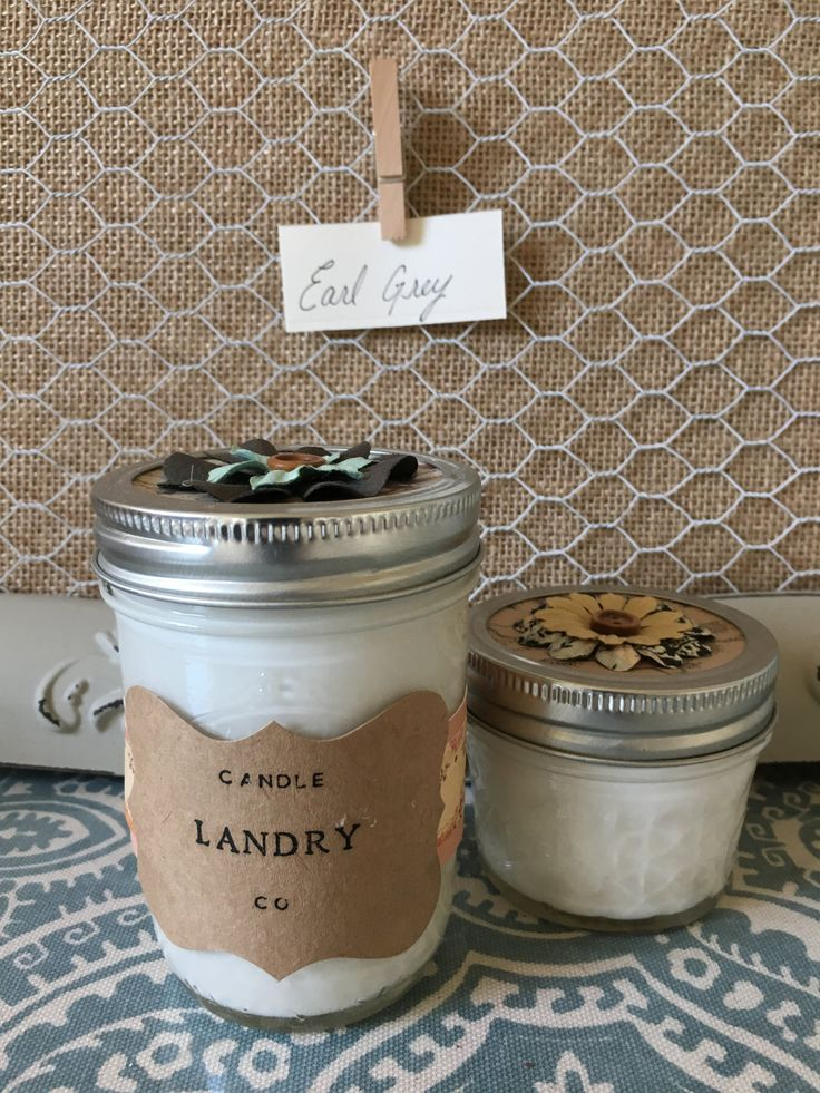 Earl Grey Soy Candle (100% Therapeutic Grade Essential Oils) by LandryHomeAccents on Etsy