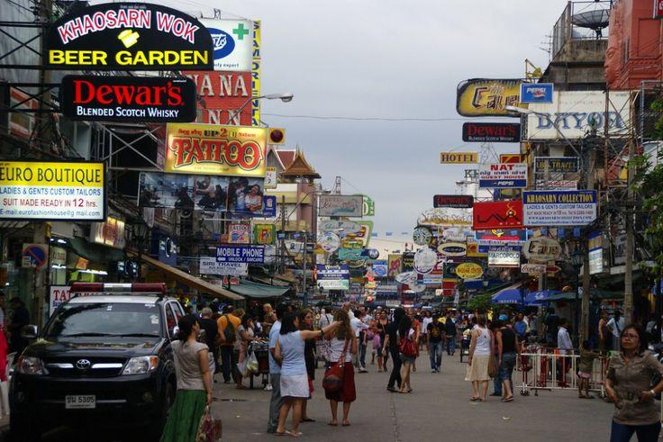 Las 10 #calles más famosas del mundo |#KhaoSan, #Bangkok.