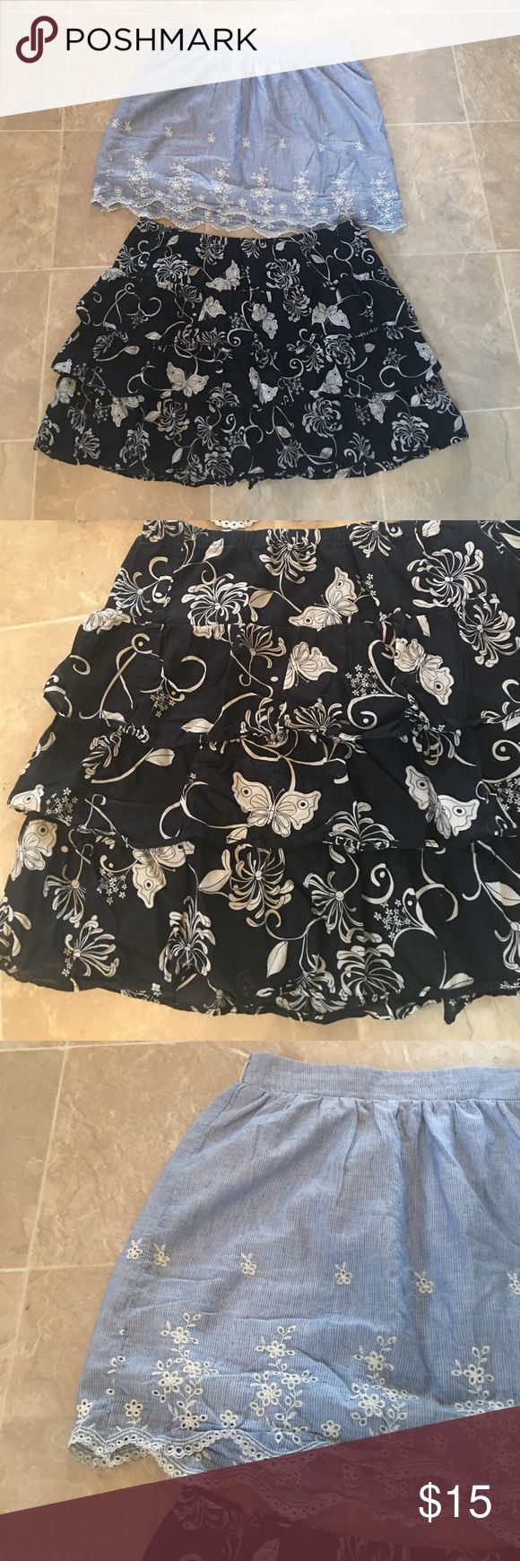 XL Summer Skirts 💎 Maurice's & Old Navy ! Both are like new condition! Maurice's and Old Navy Brand! Bundle and save with two or more listings! Smoke free pet free home! Ships within 2 business Days! Maurices & Old Navy Skirts