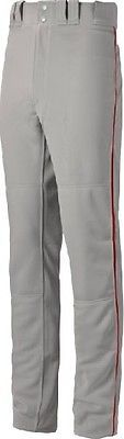 Baseball Pants 181349: Mizuno Select Pro Piped Pant - Youth - Grey Red - Medium 350388-Gry Red-M -> BUY IT NOW ONLY: $39.95 on eBay!