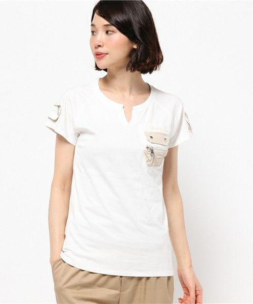 【ZOZOTOWN|送料無料】AVIREX(アヴィレックス)のTシャツ/カットソー「avirex/アヴィレックス/レディース/ S/S KEY NECK FATIGUE T-SHIRT/ 半袖 キーネック ファティーグ Tシャツ」(6253168)をセール価格で購入できます。