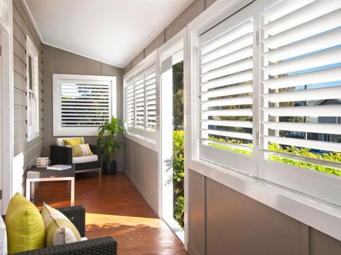 plantation shutters, enclosed verandah. If only I had a Queensland house this would be perfect!!