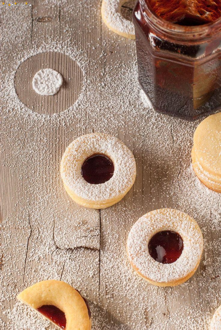 spitzbuben biscottini buonissimi di burro e marmellata